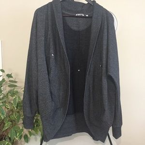 Reitman dark gray cocoon cardigan
